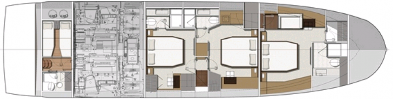 PRESTIGE 680 S Plan de pond cabines