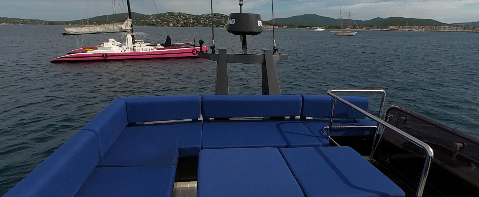 OKEAN 50 X vu salon convertible ext + acces cabine marin